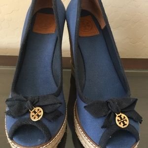 346679309 Tory Burch Shoes - Tory Burch Jackie Wedge peep toe espadrille 9.5